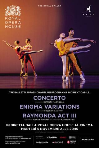 CONCERTO/ENIGMA VARIATIONS/RAYMONDA ACT III - ROYAL BALLET 2019/20